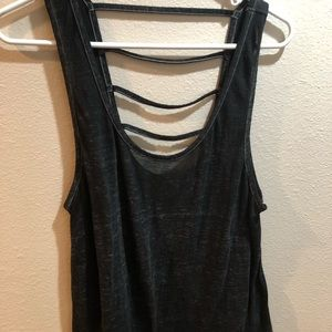 Grey casual tank top